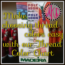 Madeira Poly Neon Thread Color Card or Chart