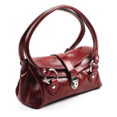Luca Women's Italian Leather Handbag | Color Red
