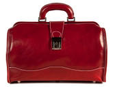 Giotto Italian Leather Bag   Color Red  