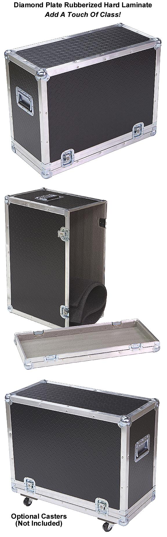 Diamond plate laminate 1 4 med duty ata case for combo for Diamond plate laminate flooring