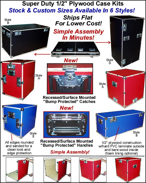DIY heavy duty flat packed case kits