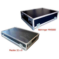 """Mackie 32 X 8  & Behringer MX9000 Mixer Case 2 Very Popular Mixer Cases Both in Stock 1/4"""" Ply Construction Mackie ID 46-1/4"""" x 28-3/4"""" x 5-3/4"""" H  Behringer ID 37-1/4"""" x 29-3/4"""" x  9-1/2"""" H"""