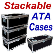 """STACKABLE"" ATA Case - Utility Trunk w/Wheels ID 35x15x13"