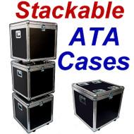 """STACKABLE"" ATA Case - Utility Trunk w/Wheels ID 21x21x21"