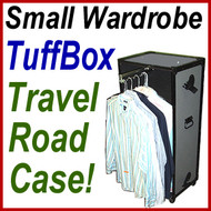 Wardrobe TuffBox Case w/Wheels - Pullout Hanger Bar!