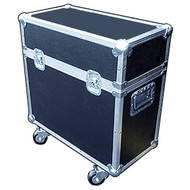 "2 In 1 Scanner ATA Cases Many Sizes Available for Popular Scanners Martin MX1, MX4 1/4"" ATA Construction, All Recessed Hardware, Heavy Duty Ball Corners, Completely Foam Lined Removable Etha Foam Divider Inside Dimensions of each compartment 12"" x 12"" x 23"" Height Includes Heavy Duty 3"" Casters"
