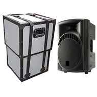 Speaker Cabinet TuffBox Road Case w/Adjustable Lid - ID 14x14x24 H