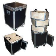 "Accessory Case w/3 Lift-Out Trays - 1/4"" ATA Lite Duty w/Wheels"