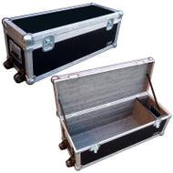 "Amp Head Case w/Comp & Wheels - 1/4"" Light Duty ATA"
