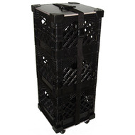 Rolling Milk Crate Stacks! 1000 Uses! Black Only