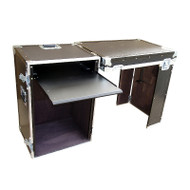 Rack - Convertable Desk ATA Case - 16 Sp Rack w/Pullout Shelf