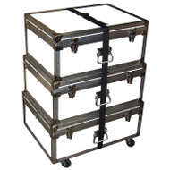 "Triple Accessory Case Rolling Stack! 1/4"" Lite Duty ATA - Colors!"