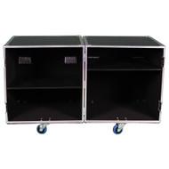 2 Sided Utility Trunk w/Adjust Shelves - ID 28x28x28 Ea Side