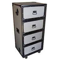 "4 Drawer Work Trunk by TuffBox Large w/2-1/2"" Casters Drawers Slide on 3/8"" Shelves Outside Dimensions 24"" x 19"" x 51"" (with wheels) Drawer Dimensions 21"" x 16"" x 10-1/4"""
