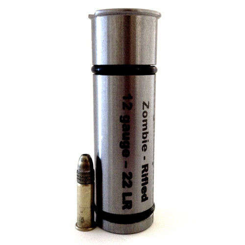 Zombie Series 12 gauge to .22 LR 3 Inch Rifled Shotgun Adapter