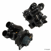 Water Pump Assembly w/ Thermostat, Sensor, Seals. OEM (2.0T TSi)