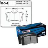 Brake Pad Set. Rear. Hawk HPS