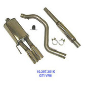 "Exhaust System. Autotech SS Cat-back. 2.5"". Golf"