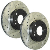 Brake Disc Set. Front. 312mm. Cross Drilled/Slotted & Vented. StopTech