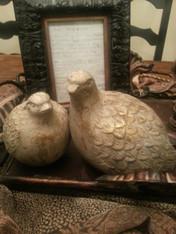 Terra Cotta Partridges set of two