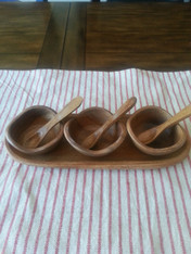 Acacia Wood Condiment Tray