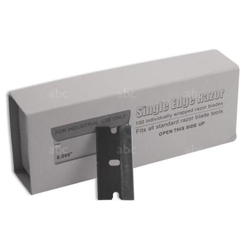 Scraper Stuff - Single Edge -- Blades - #9 Regular Steel (100 per Pack)
