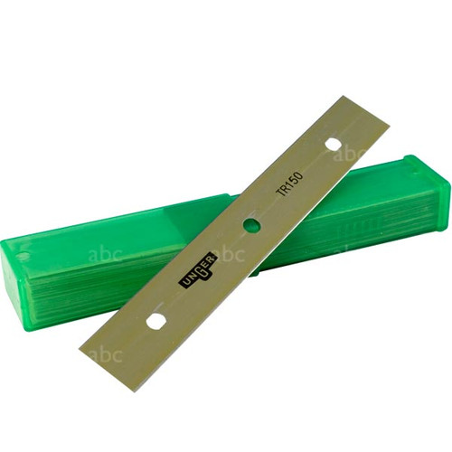 """Scraper Stuff - Unger -- ErgoTec Glass 6"""" - Blades - 25 Blades per Pack"""