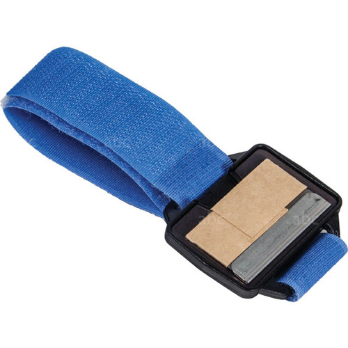 Single Edge -- Blade Holder - Blue Magnetic Wrist Band - Each