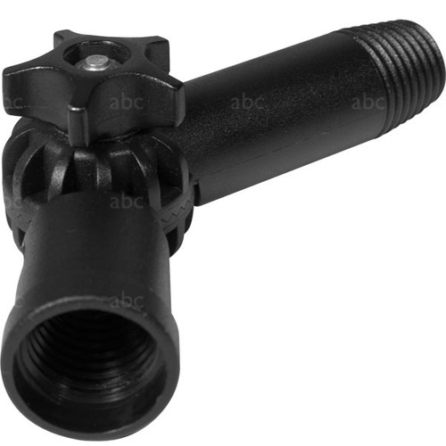 Adjustable Angle Adapter -Euro threading on both ends - with Drilled Hole