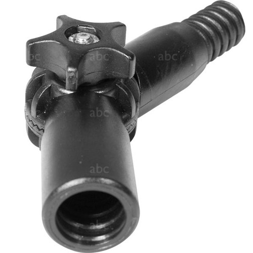 Pole Accessory -- Adjustable Angle Adapter - Black Plastic - Triple Crown - Acme Thread