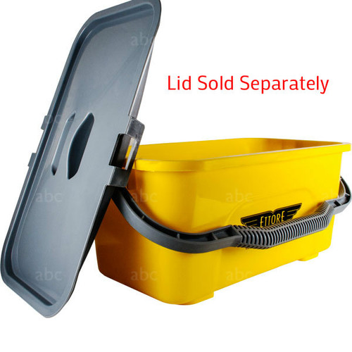 Bucket - Ettore 3 Gallon Super Compact - Yellow - Order Lid Separately - Each