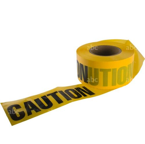 "Tape -- 3"" x 1000' - Barricade Tape - CAUTION CAUTION - Each"