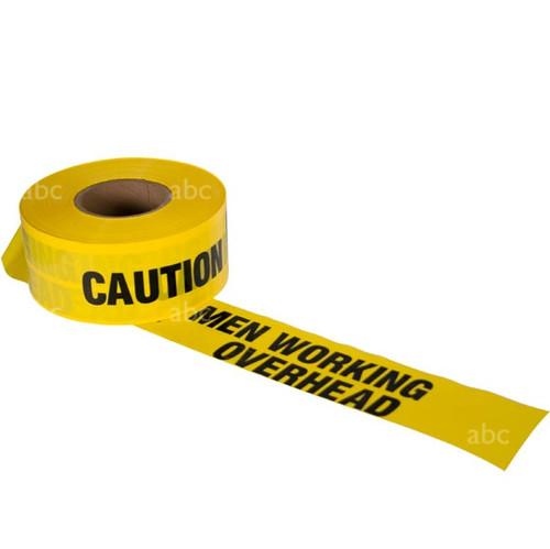 "Tape -- 3"" x 1000' - Barricade Tape - CAUTION MEN WORKING OVERHEAD - Each"