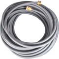"""WaterFed ® - Hose - 1/4"""" - Pole Hose with garden hose fittings - Gray - 100'"""