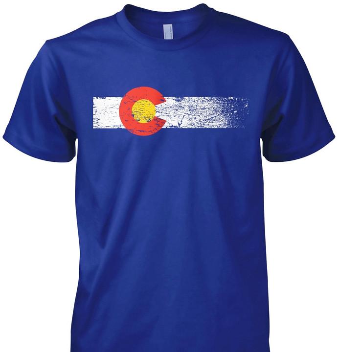 Colorado Flag Shirt   Colorado State Flag T-shirt   LoyalTee Shirts