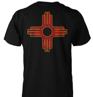 New Mexico Flag T-Shirt - Art on Front and Back