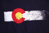 Colorado Flag Long Sleeve T-Shirt in Navy Blue