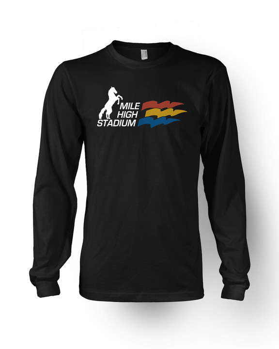 Mile High Stadium Long Sleeve T-Shirt in Black