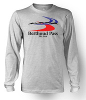 Berthoud Pass Ski Area Throwback Long Sleeve T-Shirt - Art on Front and Back
