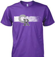 Colorado Flag/Baseball T-Shirt - Available in Black or Purple