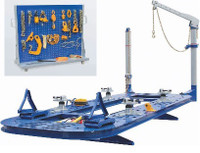 Ideal Package FR-77 18 Ft Frame Straightener - Solid Steel Deck & Full  25-Pc Tool Board Included