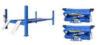 Buffalo Combo 4 Post 14,000 Lbs  Alignment Lift FP14KA-C/RAJ-8K Pair of Rolling Jacks