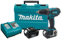 Makita MKT-LXPH01 18V LXT Li-Ion Cordless 1/2in Hammer Driver-Drill Kit, w/Car Charger