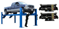 Atlas Combo 14KOF-EXT ( 2 x RJ-7000 Jack included) Garage Pro Open Front Alignment Lift (COMMERCIAL GRADE, EXTRA LONG)