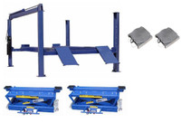 Buffalo Combo FP14KA/RAJ-8K Jacks  Heavy Duty 4 Post  Alignment Lift 14,000 Lbs  Jacks &  Turnplates included.
