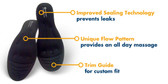 Women's 8.5 - 9 Massaging Insole by Amazing Insoles