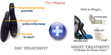 Amazing Insoles and Night Splint Plantar Fasciitis Treatment Combo