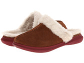 Spenco Supreme Slide Slipper - Bison Suede Shearling