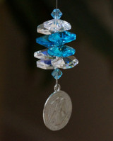 Guardian Angel Crystal Suncatcher - Blue