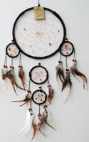 Dream Catcher - Black Suede  Small